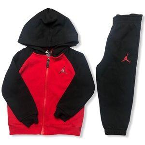 Nike Jordan Hooded Jacket & Sweatpants 24 Months